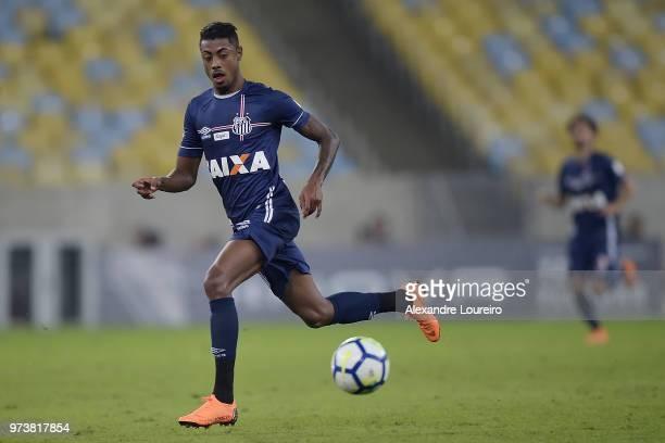 Bruno Henrique of Santos runs with the ball during the match between Fluminense and Santos as part of Brasileirao Series A 2018 at Maracana Stadium...