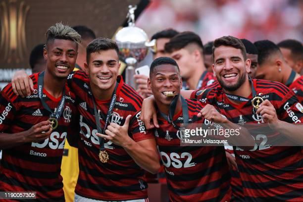 Bruno Henrique Reinier Jesus Orlando Berrio and Pepe of Flamengo celebrates the victory after winning the final match of Copa CONMEBOL Libertadores...
