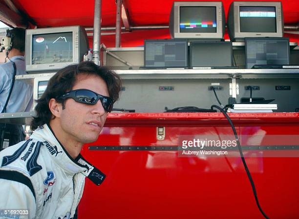 Bruno Junqueira of Brazil during practice and qualifying for the CART series GP at the Autodromo Hermanos Rodriguez November 6 2004 in Mexico City...