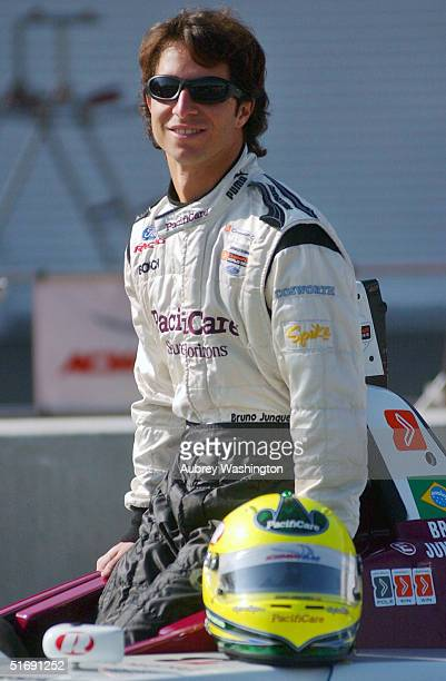 Bruno Junqueria of Brazil during practice and qualifying for the CART series GP at the Autodromo Hermanos Rodriguez November 6 2004 in Mexico City...