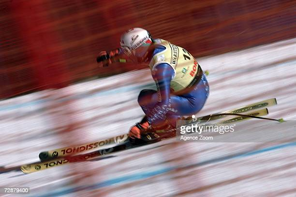 Bruno Kernen from Switzerland during the FIS Skiing World Cup Men's Downhill training on December 27 2006 in Borimo Italy