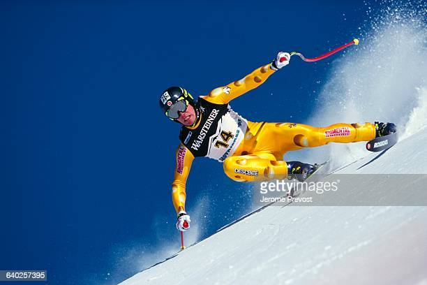 Bruno Kernen of Switzerland during the men's downhill competition of the 1997 World Championships