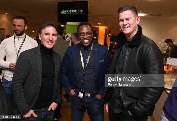 Bruno Labbadia, Pablo Thiam and Alexander Madlung attend the Club of Former National Players during the International Friendly match between Germany...