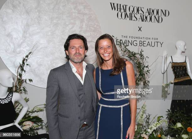 Bruno Laffite and Laetita Laffite attend The Foundation for Living Beauty Dinner Under the Stars on May 19 2018 in Beverly Hills California