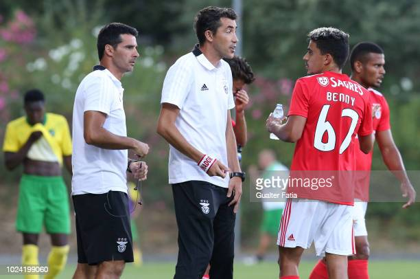 Bruno Lage of SL Benfica B in action during the Ledman Liga Pro match between SL Benfica B and CD Mafra at Caixa Futebol Campus on August 26 2018 in...