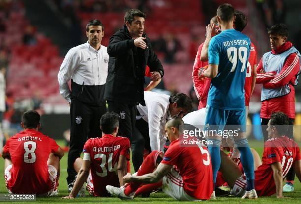 Bruno Lage of SL Benfica during the UEFA Europa League Round of 16 Second Leg match between SL Benfica and Dinamo Zagreb at Estadio da Luz on March...