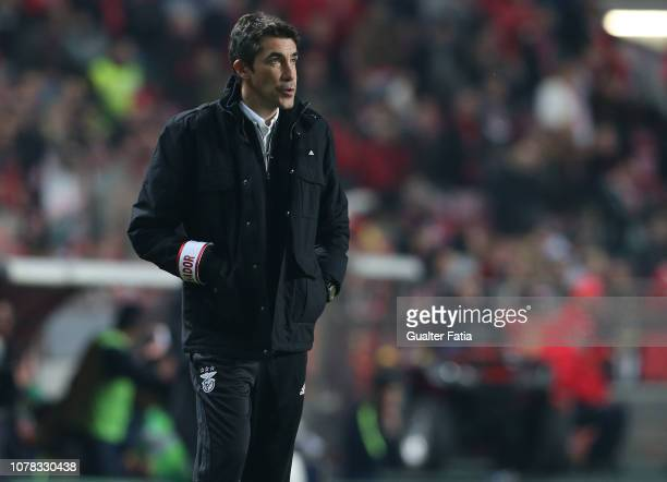 Bruno Lage of SL Benfica in action during the Liga NOS match between SL Benfica and Rio Ave FC at Estadio da Luz on January 6 2019 in Lisbon Portugal
