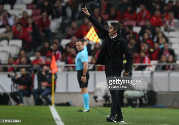 Bruno Lage of SL Benfica in action during the UEFA Europa League Round of 32 Second Leg match between SL Benfica and Galatasaray at Estadio da Luz on...