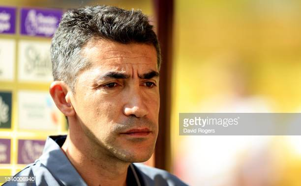 Bruno Lage, the Wolverhampton Wanderers manager looks on during the Premier League match between Watford and Wolverhampton Wanderers at Vicarage Road...