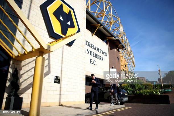 Bruno Lage tours Molineux Stadium for the first time after being appointed the new manager of Wolverhampton Wanderers with Matt Wild, General Manager...