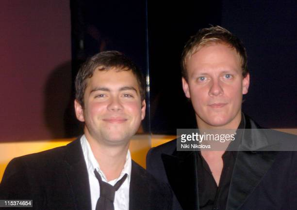 Bruno Langley and Anthony Cotton during 'Hell's Kitchen 2' Day 13 Arrivals at Atlantis Building Brick Lane in London Great Britain