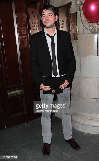 Bruno Langley arrives at the Press Night for Legally Blonde The Musical at The Savoy Theatre on July 13 2011 in London England
