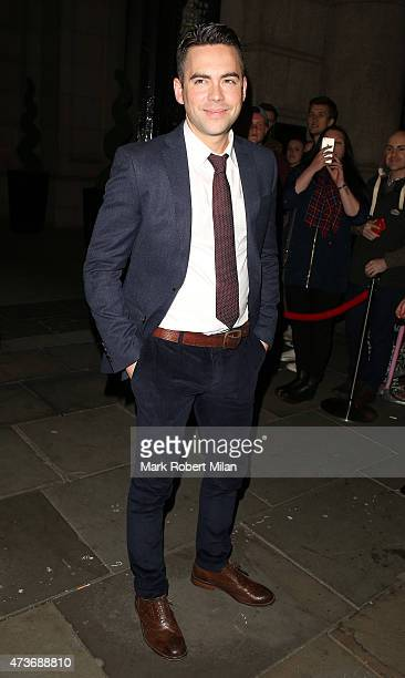 Bruno Langley attending the British Soap Awards at the Palace Theatre on May 16 2015 in Manchester England