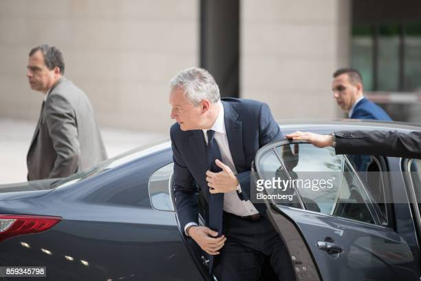 Bruno Le Maire France's finance minister arrives ahead of a Eurogroup meeting of European finance ministers in Luxembourg on Monday Oct 9 2017 When...