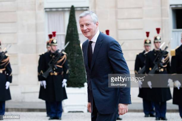 Bruno Le Maire France's finance minister arrives at the Elysee Palace ahead of a dinner with Mohammed bin Salman Saudi Arabia's crown prince in Paris...
