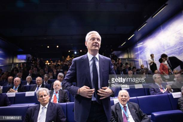 Bruno Le Maire France's finance minister arrives during the 75th anniversary of the Bretton Woods system of monetary management in Paris France on...