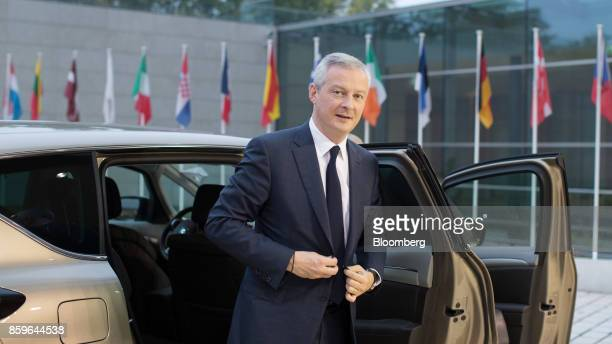 Bruno Le Maire France's finance minister arrives for an Ecofin meeting of European finance ministers in Luxembourg on Tuesday Oct 10 2017 As Jeroen...