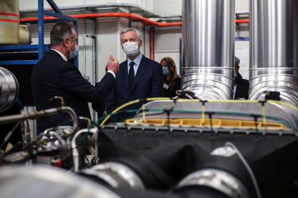 FRA: France's Finance Minister Bruno Le Maire Visits Liebherr-Aerospace Toulouse SAS Plant