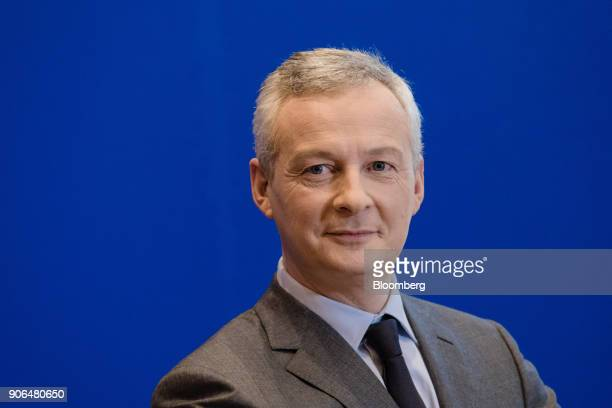 Bruno Le Maire Frances finance minister looks on during a news conference at the Ministry of Finance in Paris France on Thursday Jan 18 2018 German...