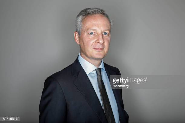 Bruno Le Maire France's finance minister poses for a photograph following an interview in Paris France on Friday Aug 4 2017 Le Maire said the French...