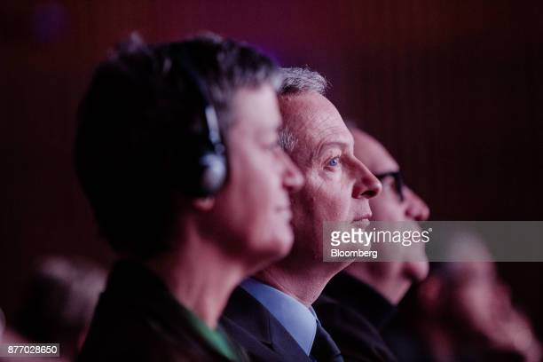 Bruno Le Maire France's finance minister sits in the audience during the Rendezvous de Bercy economic debate at the French Ministry of Economy in...
