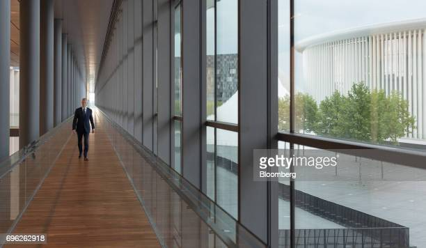 Bruno Le Maire France's finance minister walks along a corridor as he arrives for a Eurogroup meeting of European finance ministers in Luxembourg on...