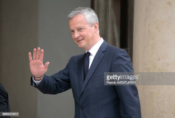 Bruno Le Maire France's minister of finance arrives for a cabinet meeting at the Elysée Palace in Paris France on May 18 2017