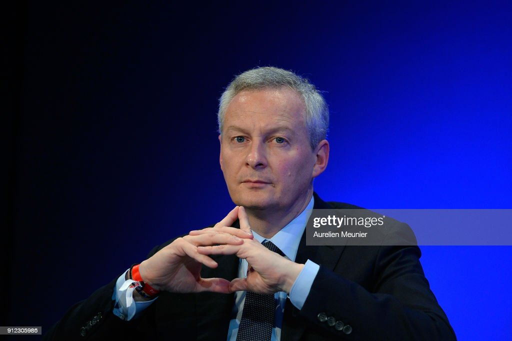 French Minister Of Economy Bruno Lemaire Visits The Finetech Forum