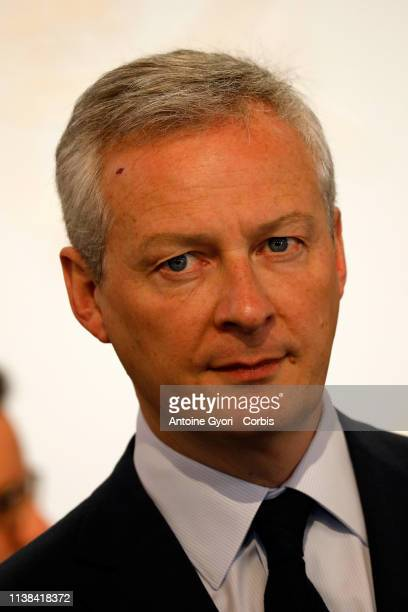 Bruno le Maire, Mayor of The Ministry of Economy and Finance during China Europe meeting at the Elysee Palace on March 26, 2019 in Paris, France.