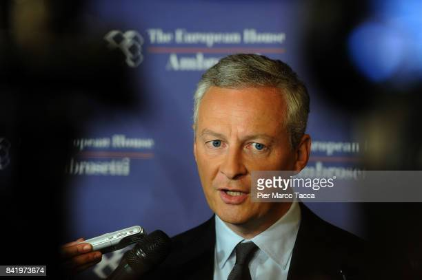 Bruno Le Maire Minister for the Economy and Finance of France attends the Ambrosetti International Economic Forum on September 2 2017 in Cernobbio...