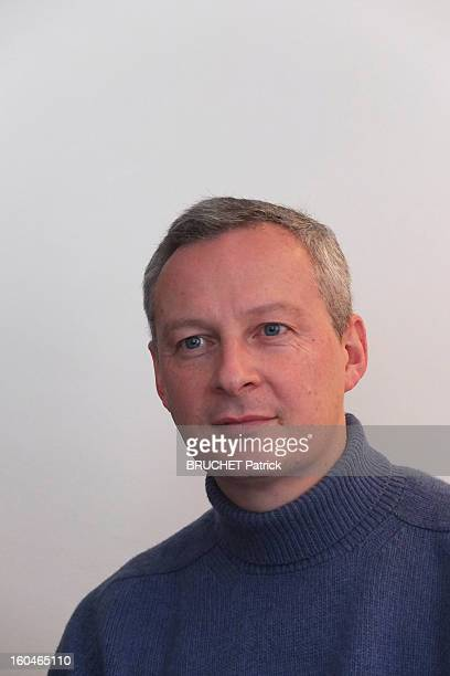 Bruno Le MaireExminister of Agriculture for Nicolas Sarkozy poses at home for the release of his book 'Jours de Pouvoir' on January 262013 in Paris...