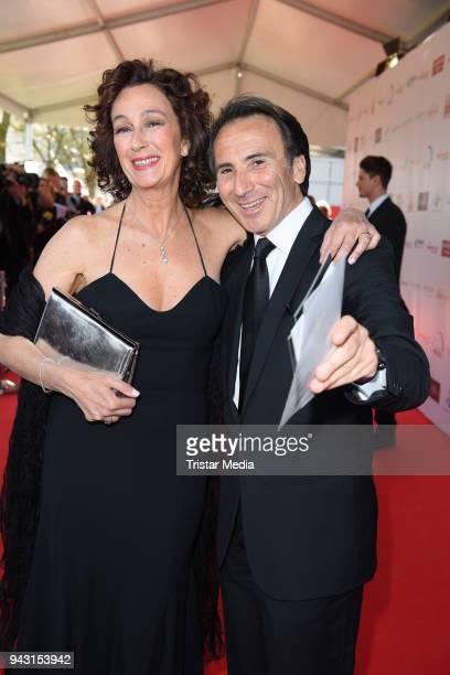 Bruno Maccallini and his girlfriend Franca attend the 'Goldene Sonne 2018' Award by SonnenklarTV on April 7 2018 in Kalkar Germany