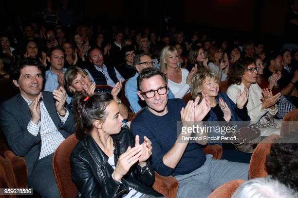 Bruno Madinier, his wife Camille Jean-Robert, Berenice Bejo, Michel Hazanavicius, Daniele Thompson and Christine Orban attend the 'Un Poyo Rojo'...