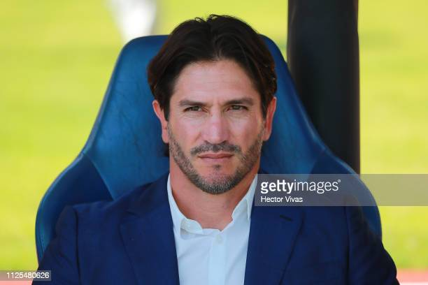 Bruno Marioni head Coach of Pumas looks on during the seventh round match between Pumas UNAM and America as part of the Torneo Clausura 2019 Liga MX...