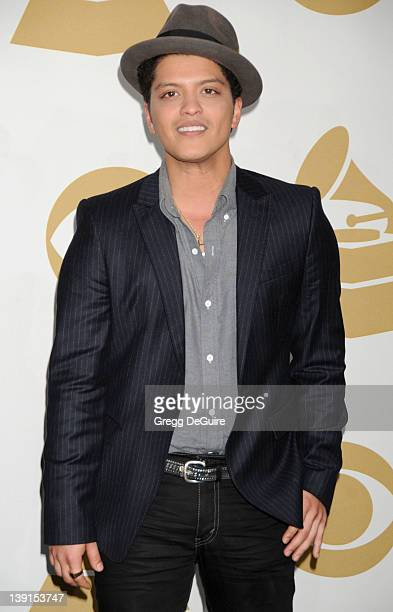 Bruno Mars appears in the press room at the The Grammy Nominations Concert Live Countdown To Music's Biggest Night at Club Nokia on December 1 2010...