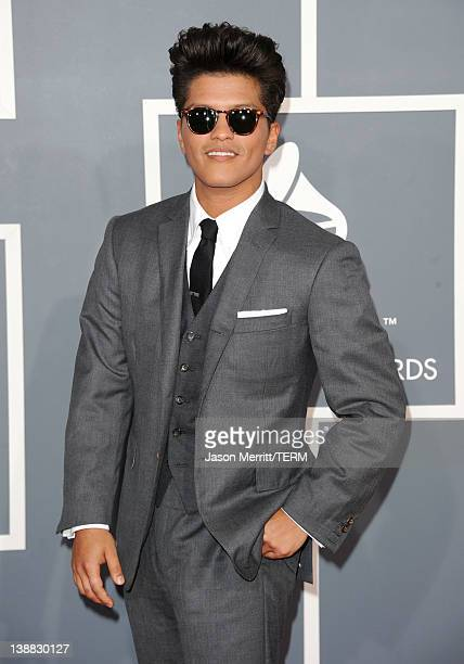 Bruno Mars arrives at the 54th Annual GRAMMY Awards held at Staples Center on February 12 2012 in Los Angeles California