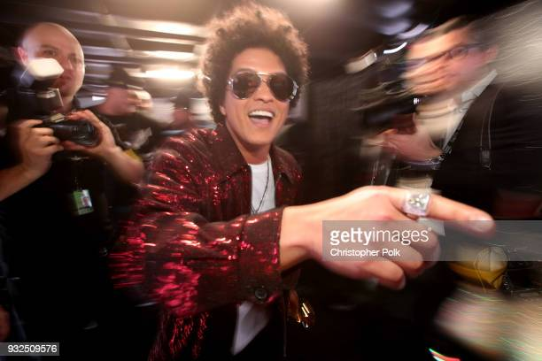 Bruno Mars attends the 60th Annual GRAMMY Awards at Madison Square Garden on January 28 2018 in New York City