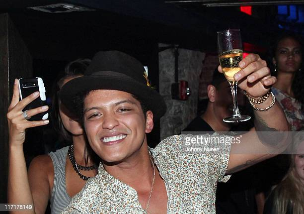 Bruno Mars attends the Sade John Legend concert after party at SL on June 21 2011 in New York City