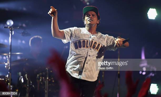Bruno Mars onstage at 2017 BET Awards at Microsoft Theater on June 25 2017 in Los Angeles California