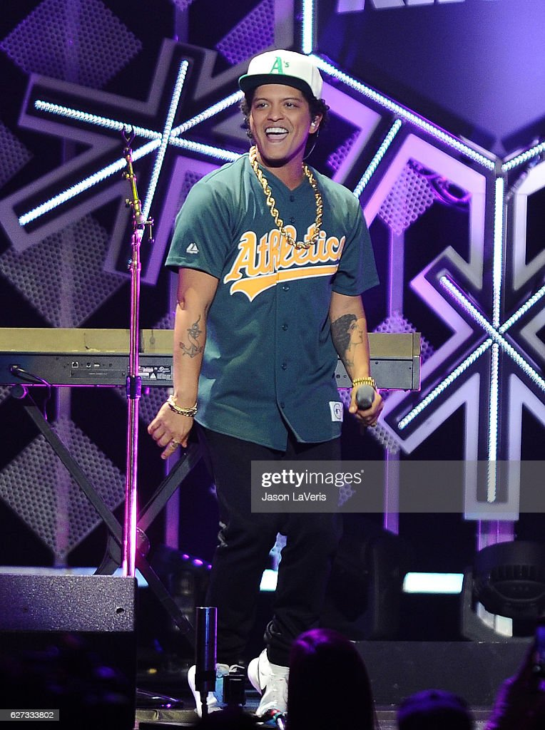 Bruno Mars performs at 102.7 KIIS FM's Jingle Ball 2016 at Staples Center on December 2, 2016 in Los Angeles, California.