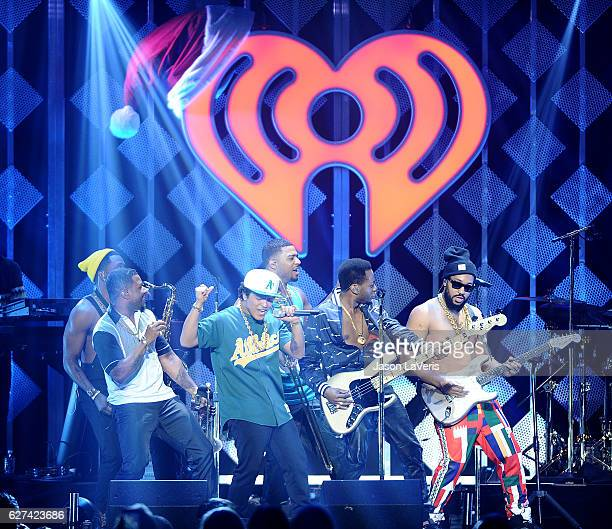 Bruno Mars performs at 1027 KIIS FM's Jingle Ball 2016 at Staples Center on December 2 2016 in Los Angeles California