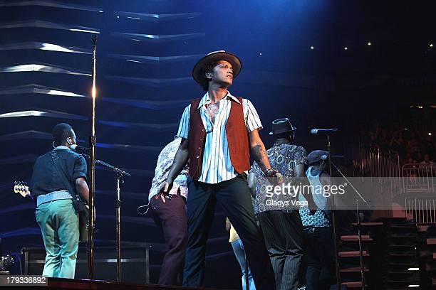 Bruno Mars performs at Coliseo de Puerto Rico on September 1 2013 in San Juan Puerto Rico