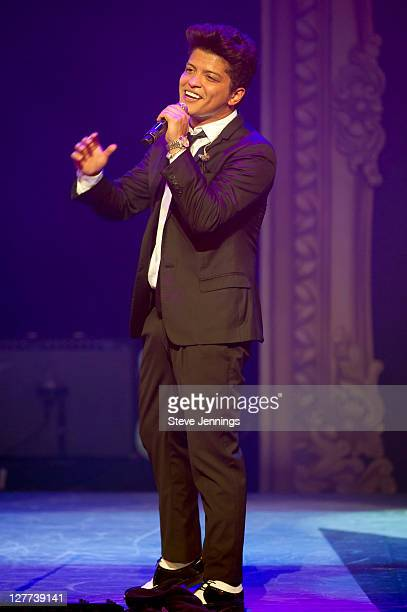 Bruno Mars performs at Macy's Passport Presents Glamorama at Orpheum Theatre on September 30, 2011 in San Francisco, California.