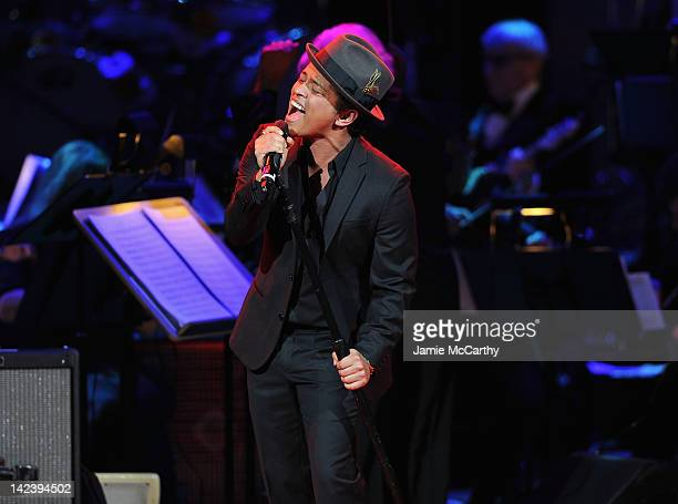 Bruno Mars performs during the 2012 Concert for the Rainforest Fund at Carnegie Hall on April 3 2012 in New York City