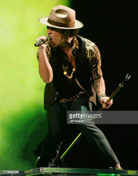 Bruno Mars performs during the 2013 MTV Video Music Awards at the Barclays Center on August 25 2013 in the Brooklyn borough of New York City