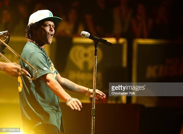 Bruno Mars performs on stage during the 102.7 KIIS FM's Jingle Ball 2016 at Staples Center on December 02, 2016 in Los Angeles, California