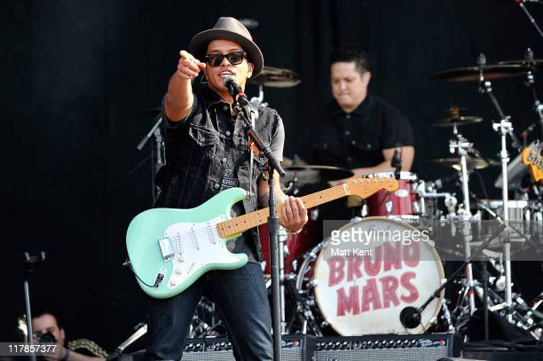 Bruno Mars performs on the first day of Wireless Festival at Hyde Park on July 1 2011 in London England