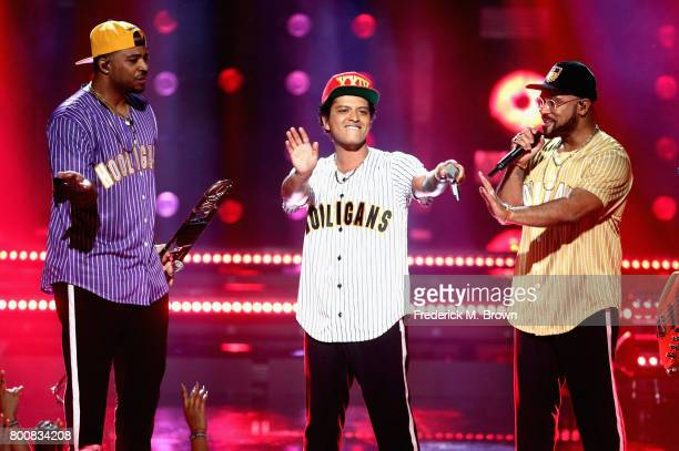 Bruno Mars performs onstage at 2017 BET Awards at Microsoft Theater on June 25 2017 in Los Angeles California