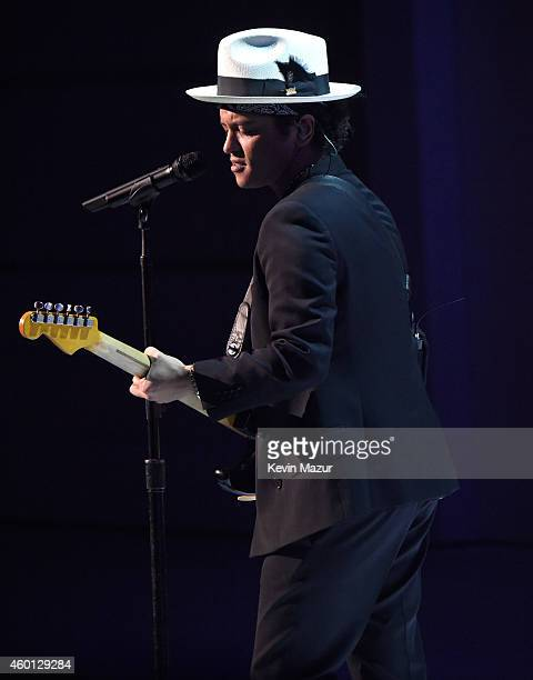 Bruno Mars performs onstage at the 37th Annual Kennedy Center Honors at The John F Kennedy Center for Performing Arts on December 7 2014 in...