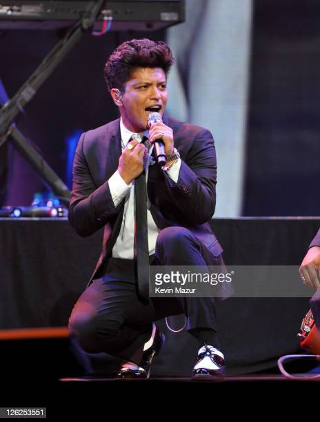 Bruno Mars performs onstage at the iHeartRadio Music Festival held at the MGM Grand Garden Arena on September 23 2011 in Las Vegas Nevada